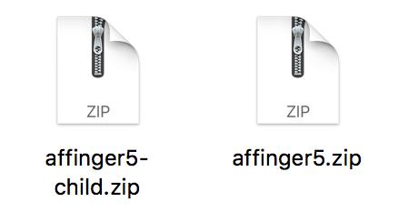 2つのzipファイル
