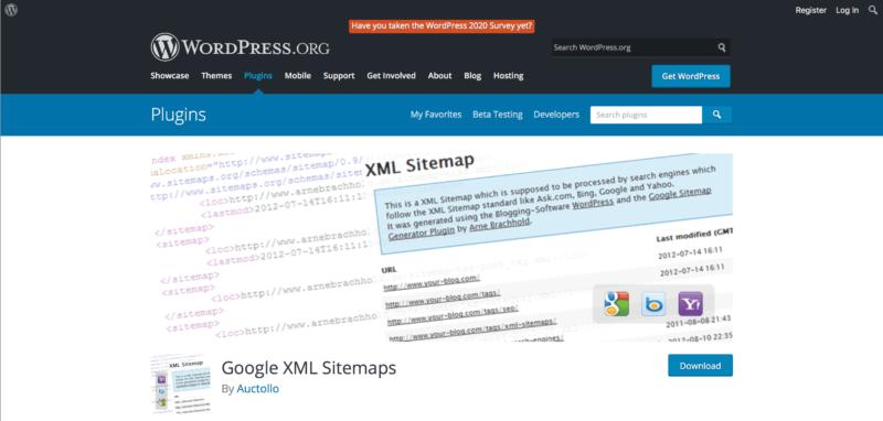 XMLサイトマップを作れるプラグイン