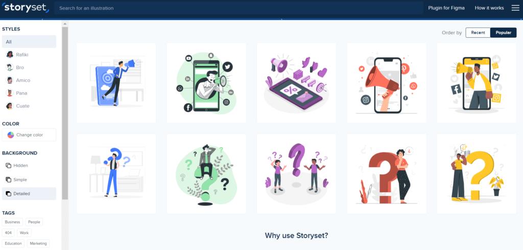 ブログにおすすめなフリー画像サイト④storyset