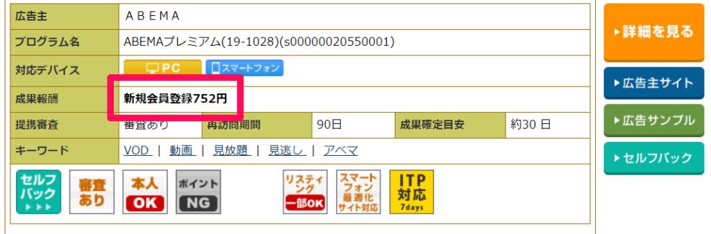 バリューコマースの評判を示す画像:A8.netの単価
